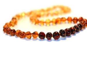 Baltic Amber Polished Necklace for Adults, 45 cm (17.7 inches) certified